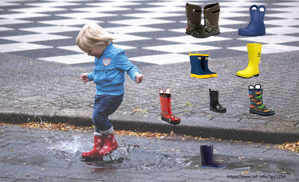 8 Toddler Little Boys Rain Boots