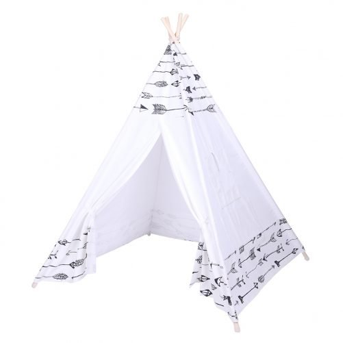 Indoor Indian Tent with Small Coloured Flags roller shade and pocket Arrow Pattern