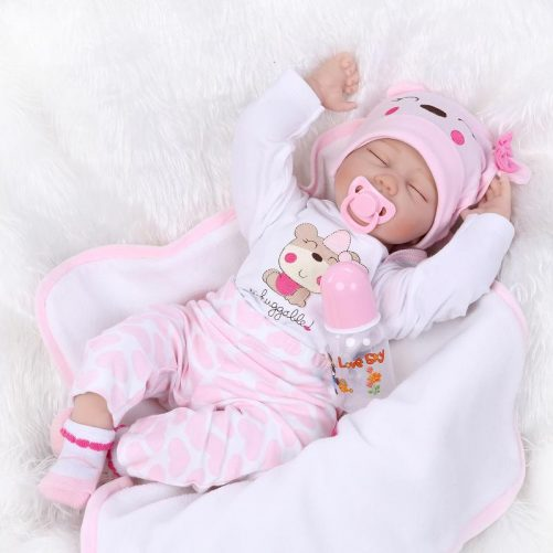 """22"""" Mini Cute Baby Toy in Hippo Pattern Clothes Pink"""
