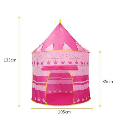 Portable Folding Blue Play Tent Pink