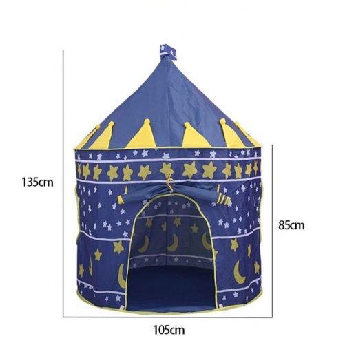 Portable Folding Blue Play Tent Blue