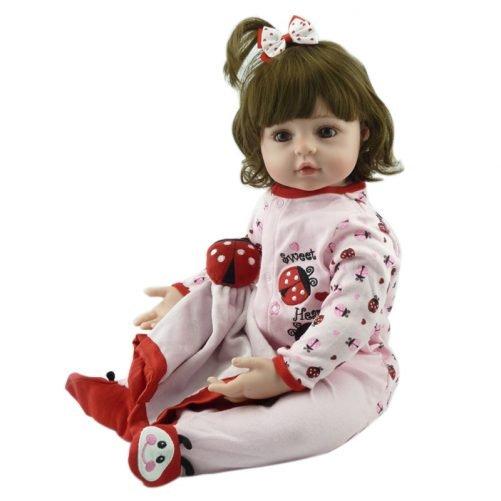"24"" Reborn Baby Doll in Beetle Dress"