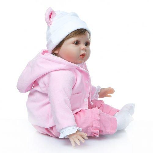 "22"" Reborn Baby Doll in Bear Dress"