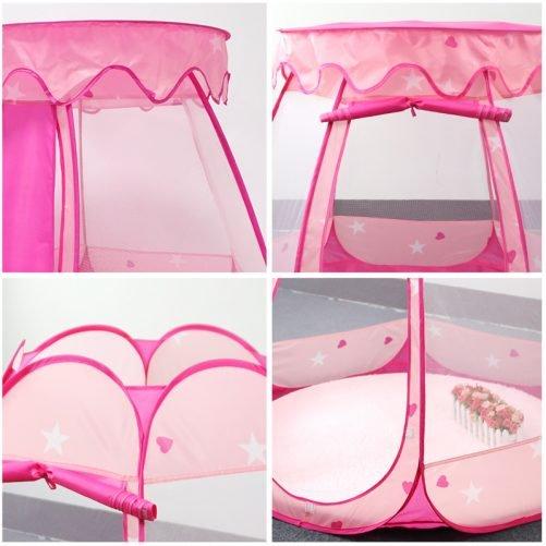 Kid Outdoor Indoor Princess Play Tent Pink