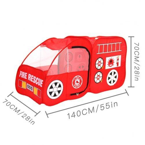 Fire Engine Design Folding Portable Playpen Tent  Red