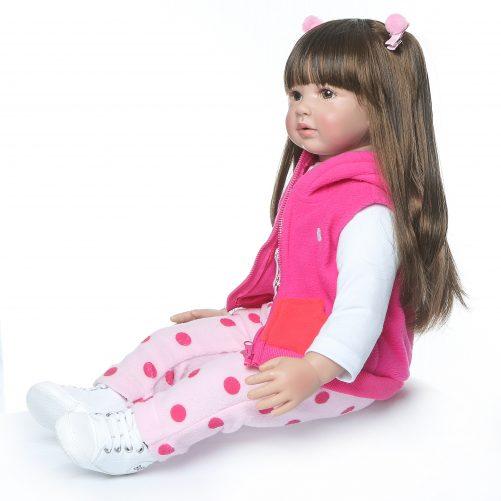 "24"" Beautiful Simulation Baby Long Hair Girl Wearing a Deer Dress"