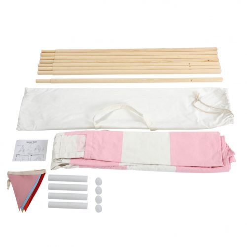 Indian Tent 4 (Small Bunting / With External Shutter Built-In Pocket) Pink Stripes