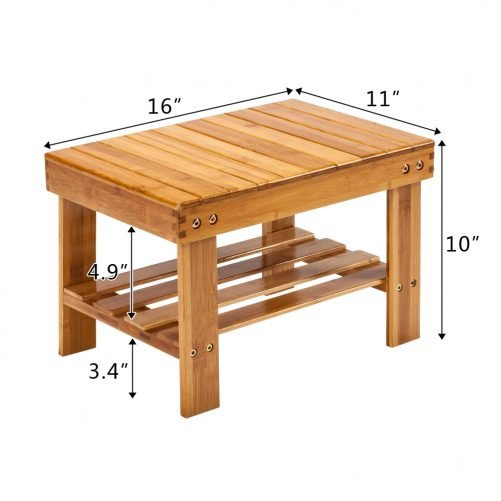 Children Bench Stool Bamboo Wood Color