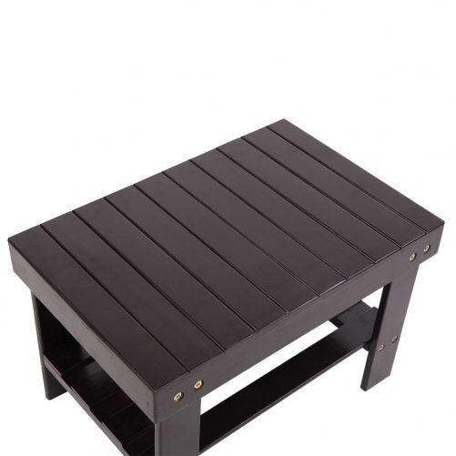Children Bench Stool Bamboo Coffee Color