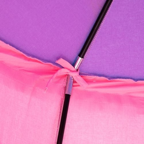 Cotton Yurt Tent With Small Colorful Flags Pink