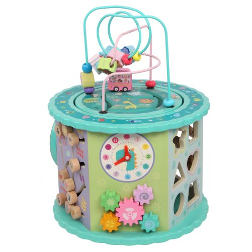 Wooden Toys: Eight-In-One Function Winding Beads/Side Bead/Sea World Color Elements