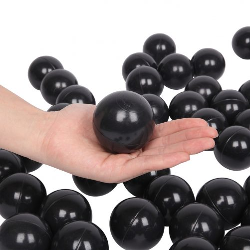 100Pcs 5.5cm Fun Soft Plastic Ocean Ball Black