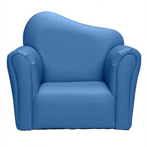 Children Single Sofa Bent Back Blue
