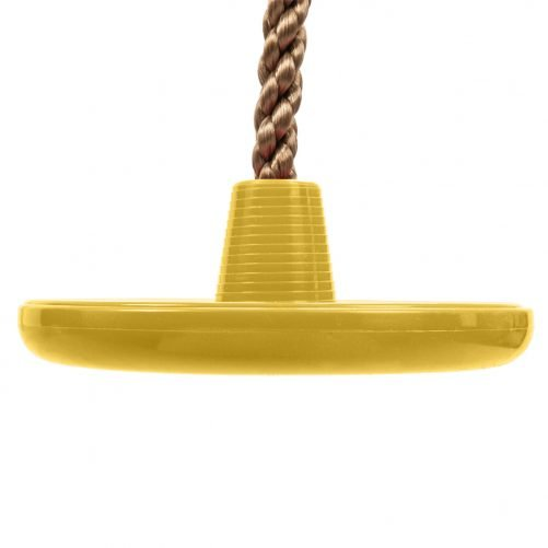 Climbing Rope Swing with Disc Swing Seat Set Rope Ladder Yellow