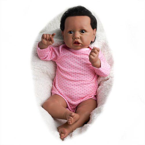 22'' Realistic Baby Doll - Silicone vinyl body - Black Boy
