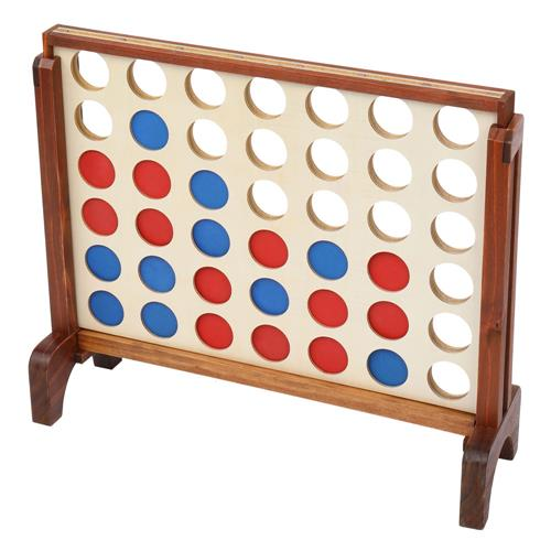 Giant Wooden 4 in a Row Game with Storage Bag
