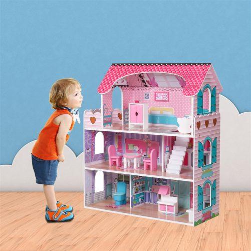 Large Children's Wooden Dollhouse