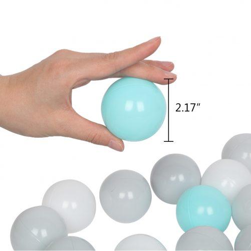 200pcs 5.5cm Fun Soft Plastic Ocean Ball 3 Color