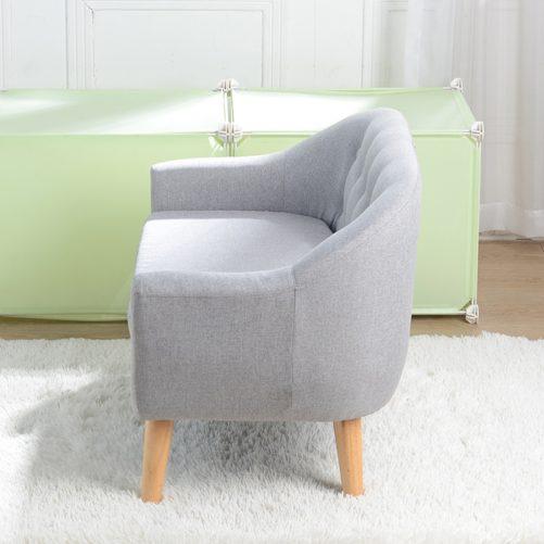 Children's Single Sofa with Sofa Cushion, Gray
