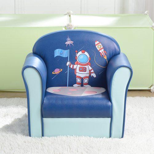Children's Single Sofa Space Series, Blue