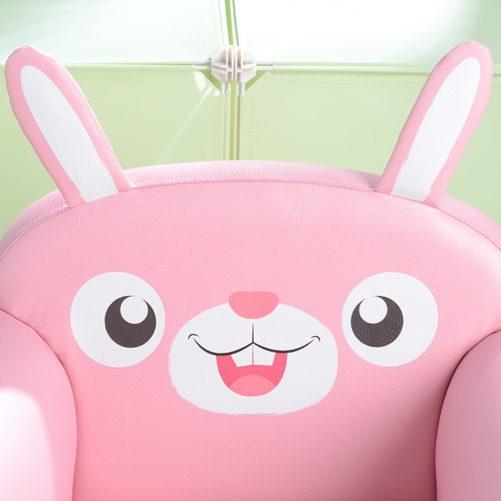 Children's Single Sofa Cute Series Dark Pink