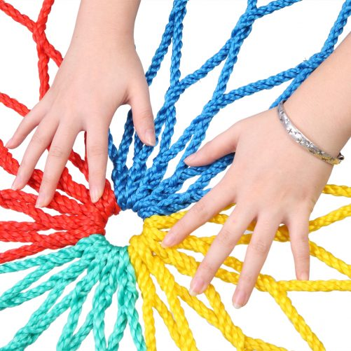 40″ Hexagon Swing with 2 Carabiners & Adjustable Rope  (Colorful)
