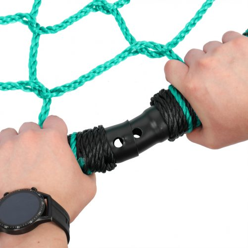 """40"""" Spider Web Round Rope Swing with Adjustable Ropes, 2 Carabiners  (Green & Black)"""