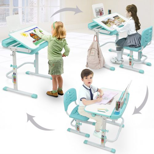 Children Learning Table And Chair Gray