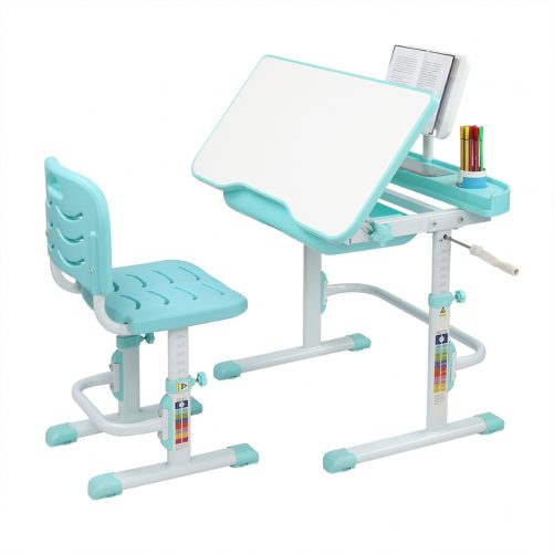 Children's Study Table And Chair Blue - Green