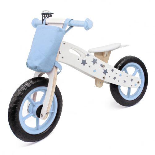 Wooden Balance Bike Star Model With Bag/Bell Blue
