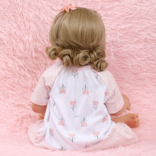 18 Inches Pink And White Flower Pajamas Baby