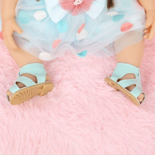 22 Inches Cute Blue Polka Dot Skirt