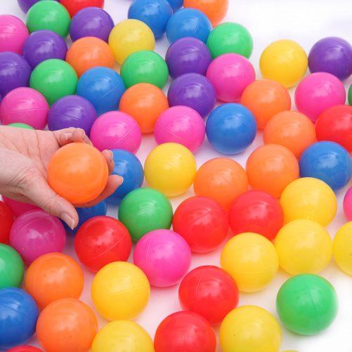100pcs 5.5cm Plastic Ocean Ball, Colorful