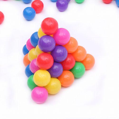 200pcs 5.5cm Fun Soft Plastic Ocean Ball, Colorful