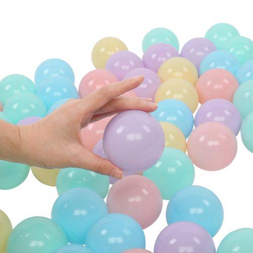 PE Ocean Ball, 5 Colors (Macaron) With Net Bag