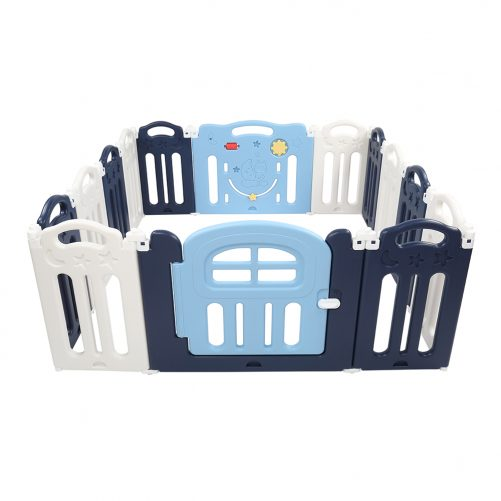 14 Panel Moon Foldable Playpen Baby Safety Play Yard