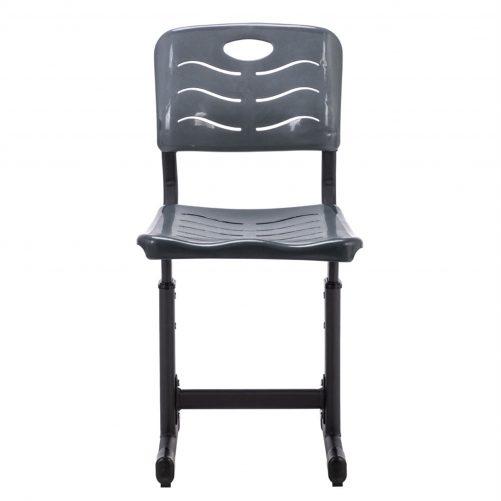Adjustable Students Children Desk and Chairs Set Black