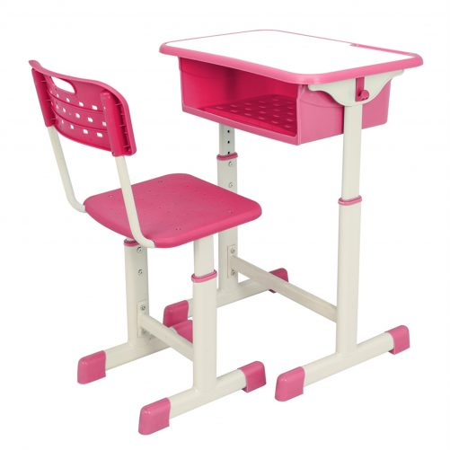Adjustable Student Desk and Chair Kit Pink