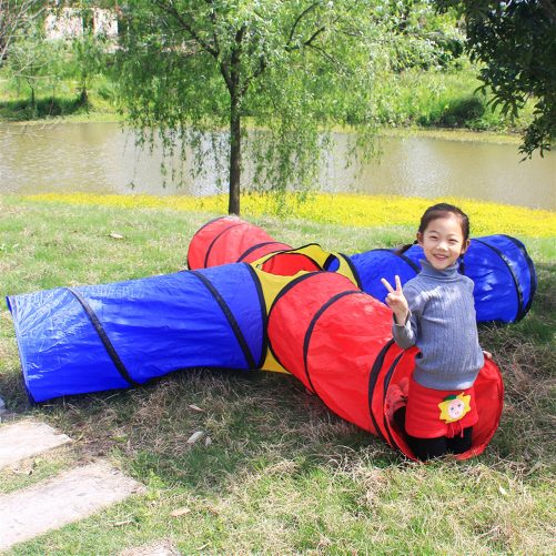 4-way Play Tunnel Folding Portable Playpen Tent