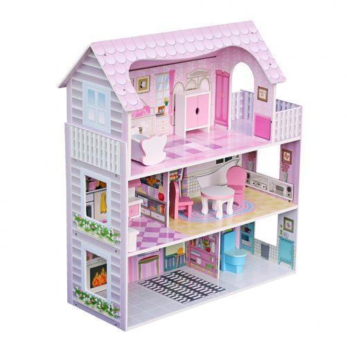 Large Children's Wooden Dollhouse Kid House