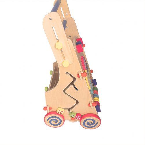 Adjustable Wooden Baby Walker Toddler Toys