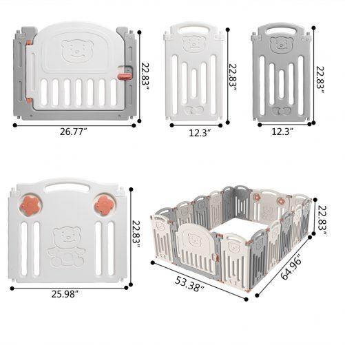 Baby 16 Panel Playpen Activity Centre