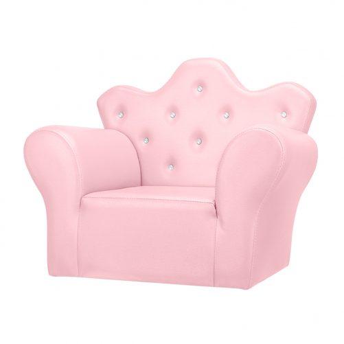 PVC Leather Princess Sofa Bright, Pink