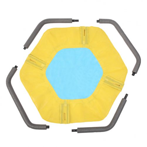 """40"""" Hexagon Swing with  2 Carabiners & Adjustable Rope(Yellow & Blue)"""
