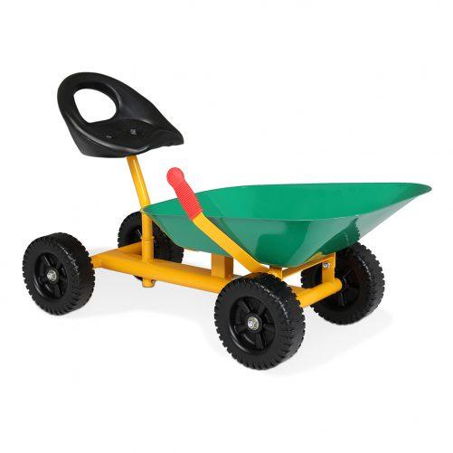 Kids Ride On Sand Dumper With Wheels, Green
