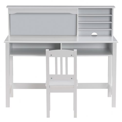 Painted Student Table and Chair, White