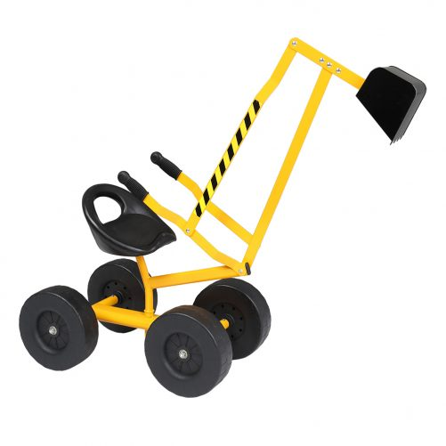 Sand Digger Ride On With Wheels And 360° Rotatable Seat, Yellow
