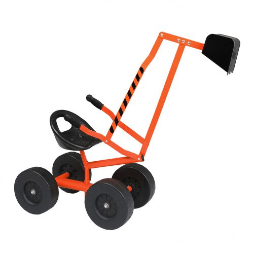 Sand Digger Ride On With Wheels And 360° Rotatable Seat, Orange