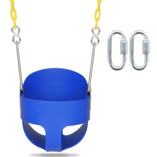 Stuff Highback Full Bucket Swing Blue