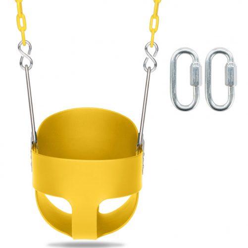 Highback Full Bucket Swing, Yellow